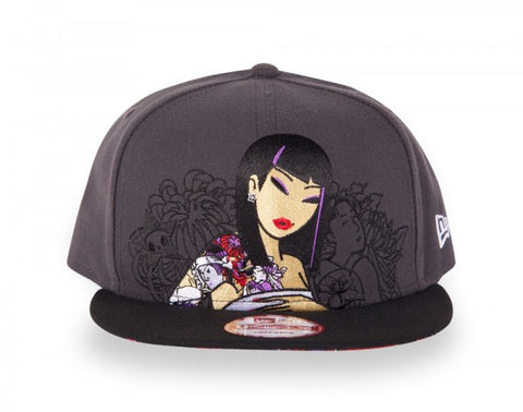 tokidoki - Hey Stranger Snapback Hat, Grey - The Giant Peach - 1