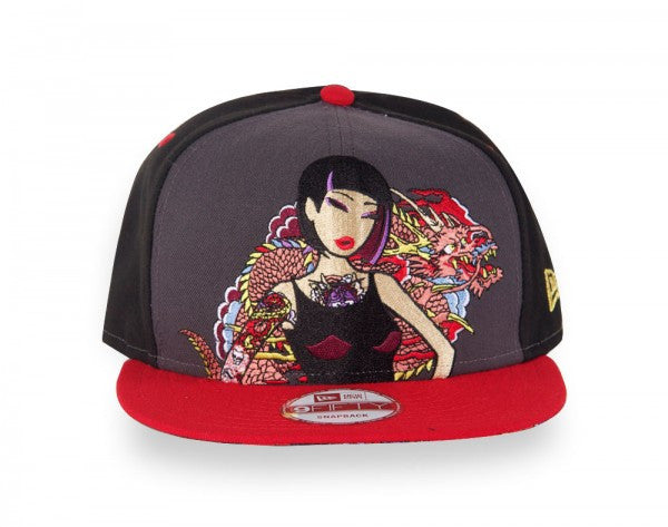 tokidoki - Pink Dragon Snapback Hat, Black - The Giant Peach - 1