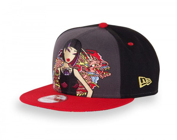 tokidoki - Pink Dragon Snapback Hat, Black - The Giant Peach - 3