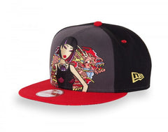 tokidoki - Pink Dragon Snapback Hat, Black
