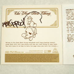 "Jeremy Fish x Aesop Rock - Next Best Thing Book + 7"" (autographed) - The Giant Peach"