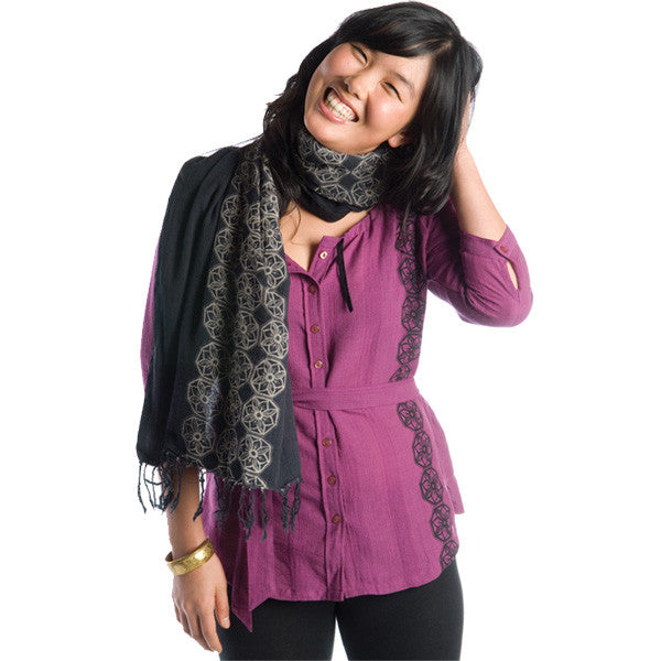 Nicacelly - Bobbin' Women's Top, Plum - The Giant Peach