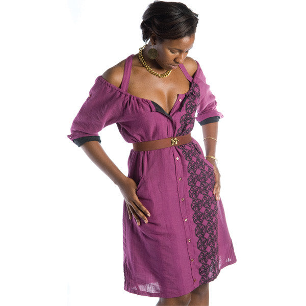 Nicacelly - Bobbin' Women's Dress, Purple - The Giant Peach