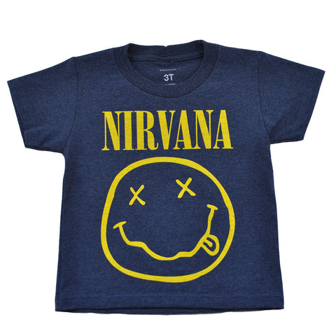 Nirvana - Logo Toddler Tee, Heather Blue - The Giant Peach