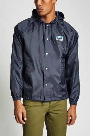 Brixton - Nobel Men's Hooded Jacket, Navy