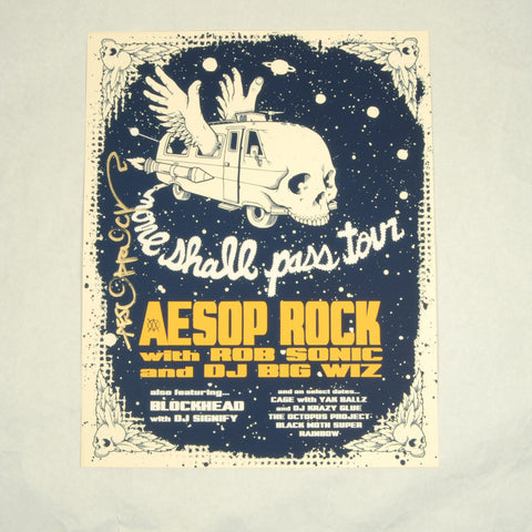 Aesop Rock -None Shall Pass Tour Poster(autographed)