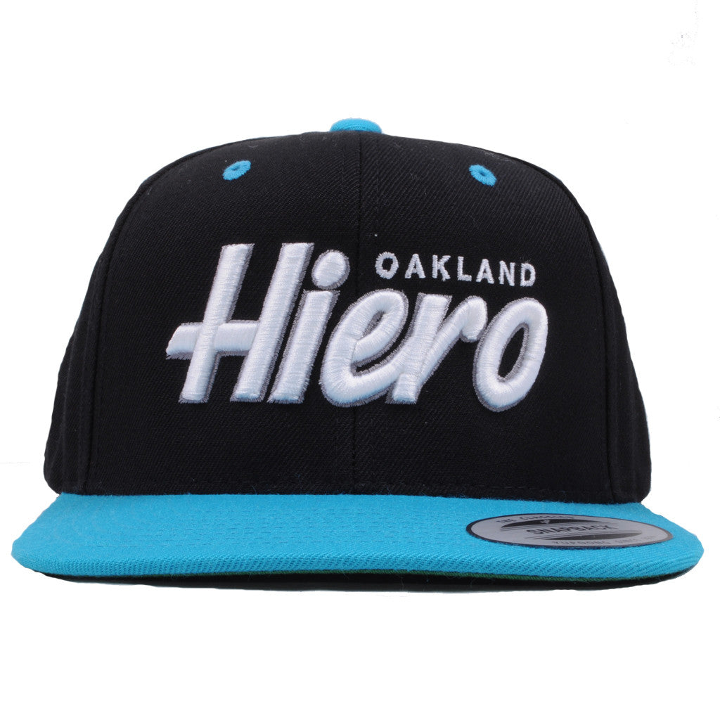 Hieroglyphics - Oakland Snapback Hat, Black/Teal - The Giant Peach - 1