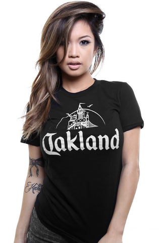 Adapt - Oakland Women's Tee, Black/Grey