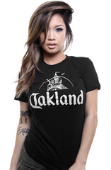 Adapt - Oakland Women's Tee, Black/Grey - The Giant Peach
