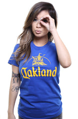 Adapt - Oakland Women's Tee, Royal - The Giant Peach