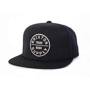 Brixton - Oath III Men's Snapback, Black - The Giant Peach