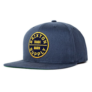 Brixton - Oath III Men's Snapback Hat, Washed Navy - The Giant Peach