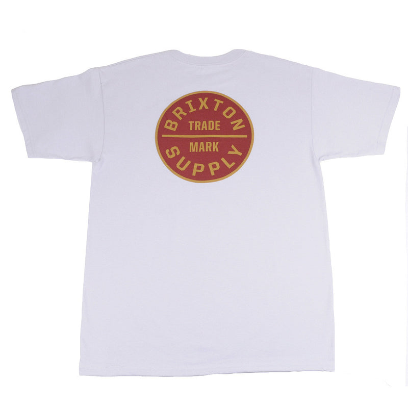 Brixton - Oath Men's S/S Standard Tee, Grey - The Giant Peach