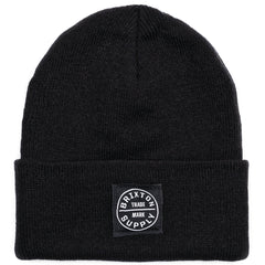 Brixton - Oath Watch Cap Men's Beanie, Black - The Giant Peach