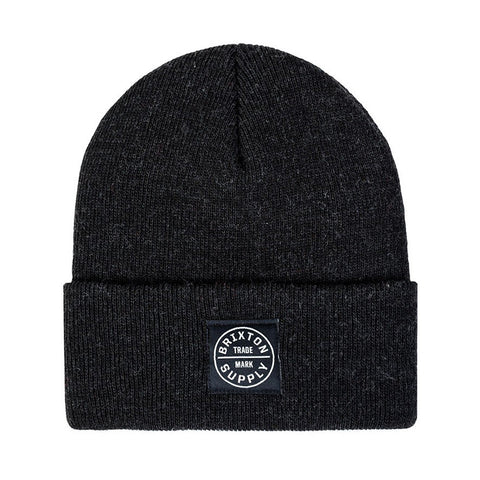 Brixton - Oath Watch Cap Men's Beanie, Washed Black