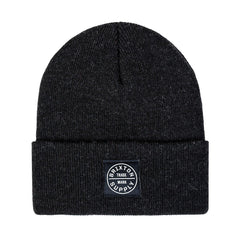 Brixton - Oath Watch Cap Men's Beanie, Washed Black - The Giant Peach