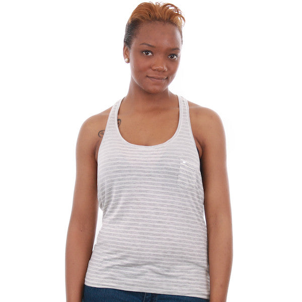 OBEY - Shattered Stripe Women's Tank Top, Stripe Sprout - The Giant Peach