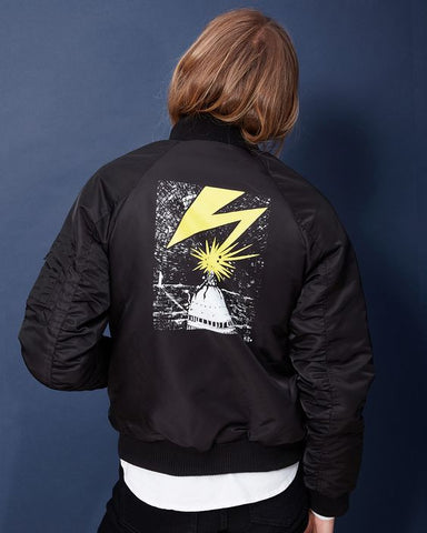 OBEY - Bad Brains MA-1 Bomber Men's Jacket, Black