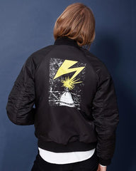 OBEY - Bad Brains MA-1 Bomber Men's Jacket, Black - The Giant Peach