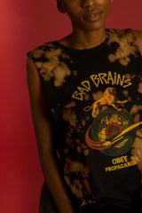 OBEY - Bad Brains Rocket Women's Moto Tank, Bleach Spill - The Giant Peach