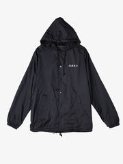 OBEY - Defiant Rose Snap Hooded Men's Coaches Jacket, Black