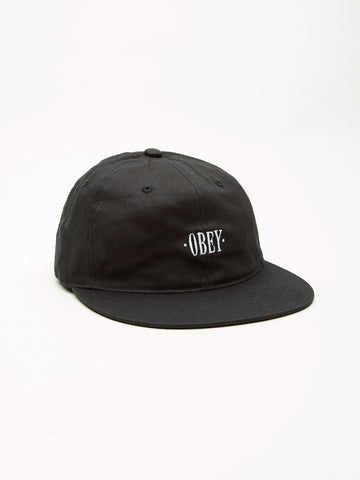 OBEY - Franklin Flexfit Men's 6 Panel Hat, Black