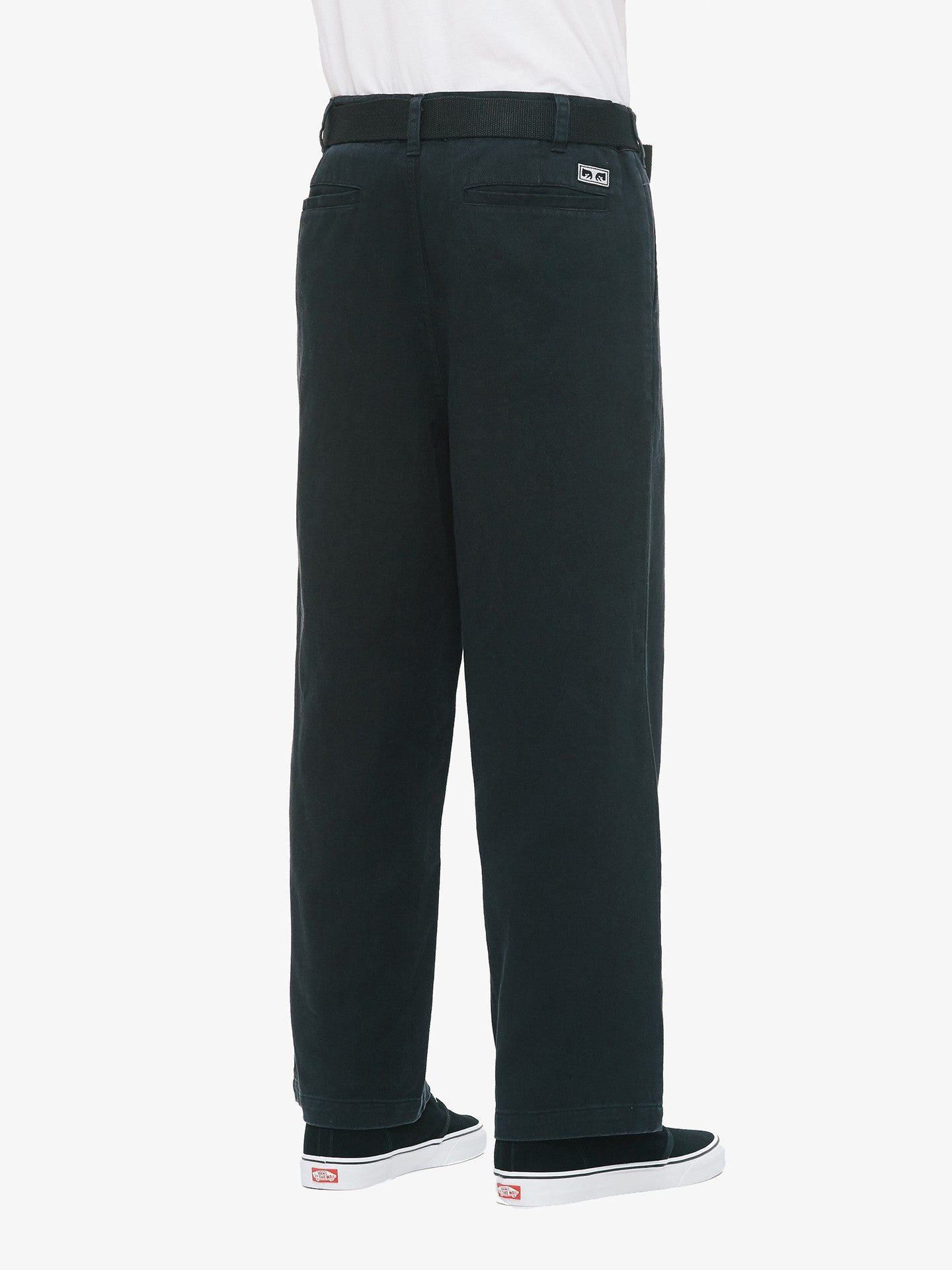 OBEY - Loiter Big Fits Men's Pants, Black - The Giant Peach