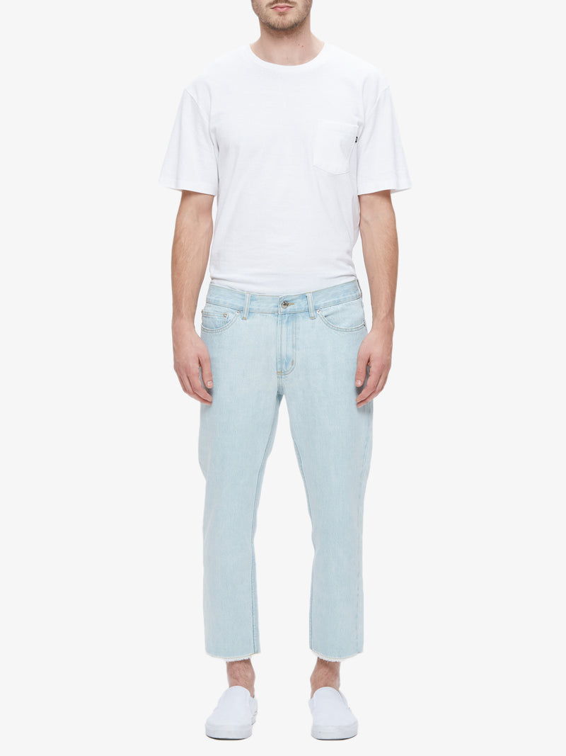 OBEY - New Threat Cut Men's Denim, Bleached Indigo - The Giant Peach
