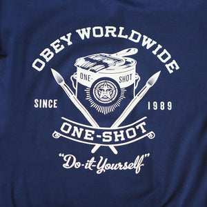 OBEY - One Shot Men's Tee, Navy