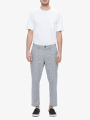 OBEY - Straggler Houndstooth Flooded Men's Pants, White Multi