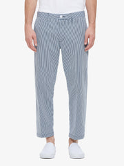 OBEY - Straggler Stripe Flooded Men's Pants, Navy Multi