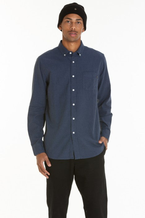 OBEY - Adams Woven Men's Shirt, Heather Navy - The Giant Peach - 1