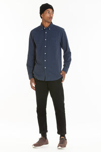 OBEY - Adams Woven Men's Shirt, Heather Navy - The Giant Peach