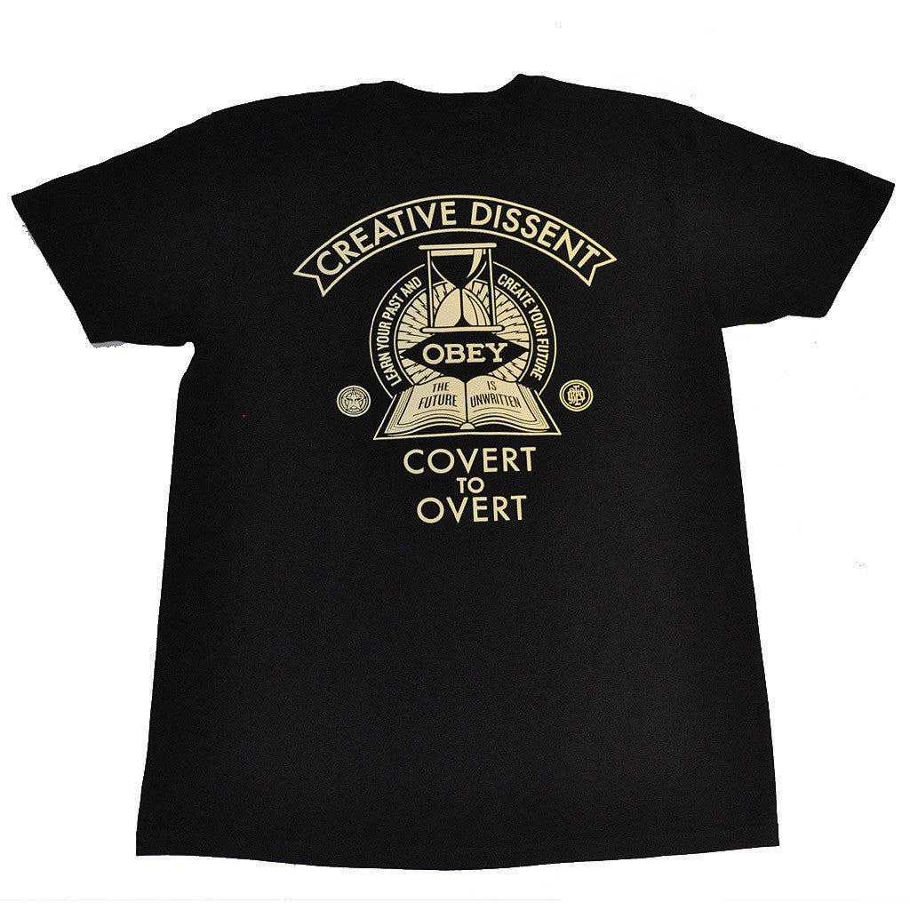 OBEY - Covert To Overt Premium Men's Shirt, Black - The Giant Peach