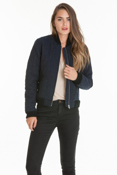 OBEY - Rumson Women's Jacket, Heather Navy - The Giant Peach