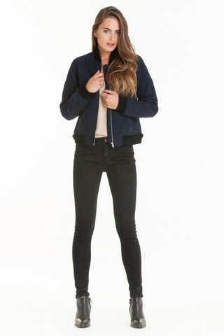 OBEY - Rumson Women's Jacket, Heather Navy
