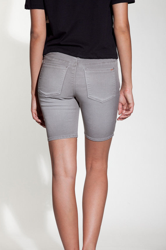 OBEY - Lean & Mean Natural Women's Shorts, Grey - The Giant Peach - 3