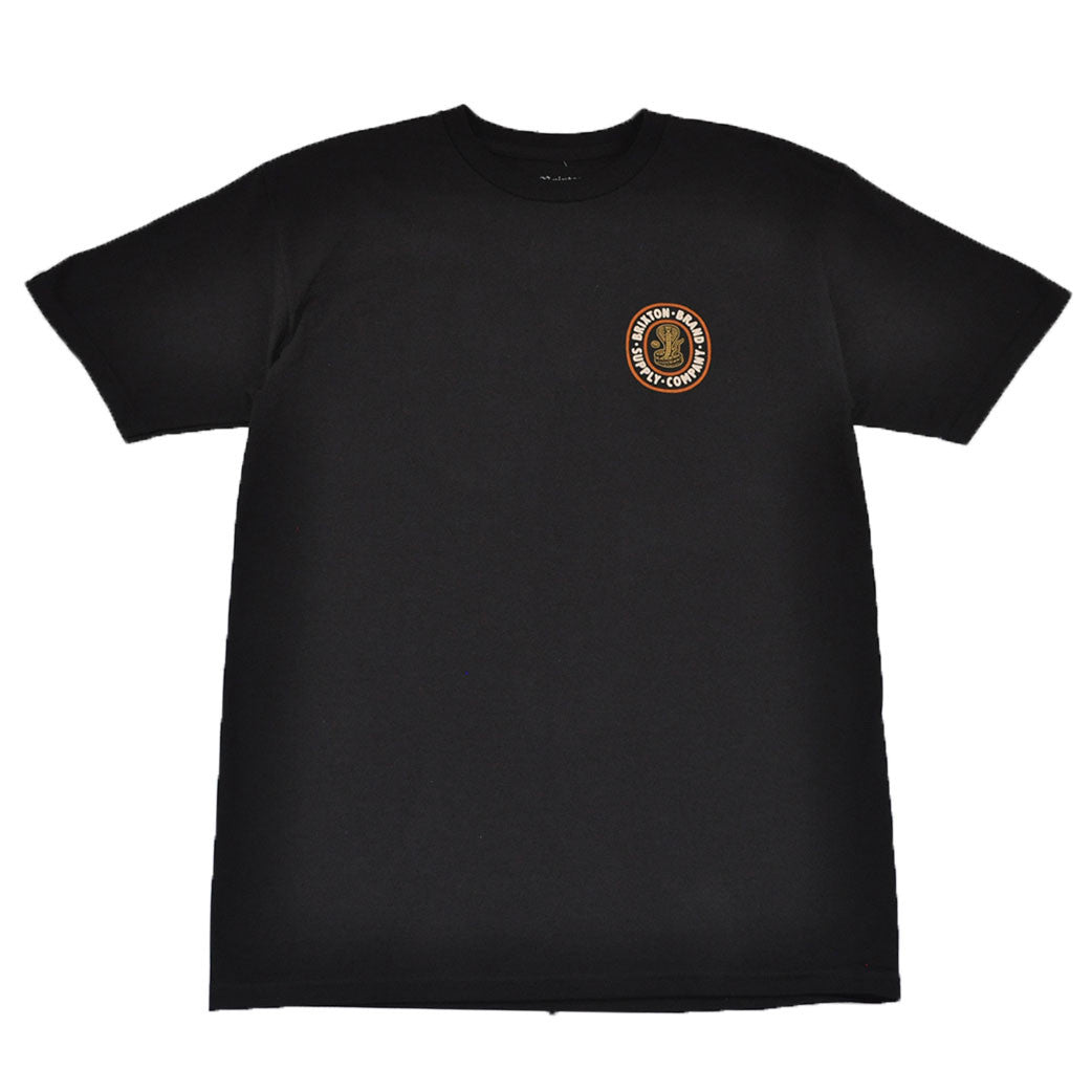 Brixton - Pace Men's S/S Standard Tee, Black - The Giant Peach