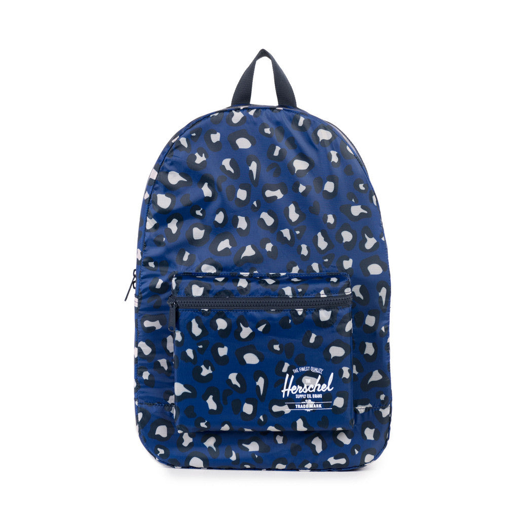 Herschel Supply Co. - Packable Daypack, Oversized Leopard Blue - The Giant Peach