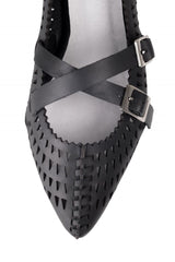 Jeffrey Campbell - Padme Pointed Flats, Black Triangle Cut