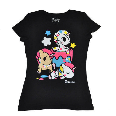 tokidoki - Painted Ponies Women's Tee, Black