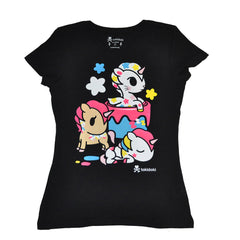 tokidoki - Painted Ponies Women's Tee, Black - The Giant Peach
