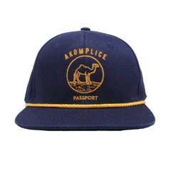 Akomplice - Passport Snapback Hat, Navy - The Giant Peach