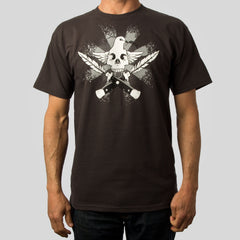 SuperFishal (Jeremy Fish) - Peacekeeper Men's Shirt, Tar - The Giant Peach