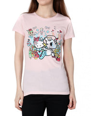 tokidoki x Hello Kitty - Pearl Kitty Women's Tee, Pink - The Giant Peach