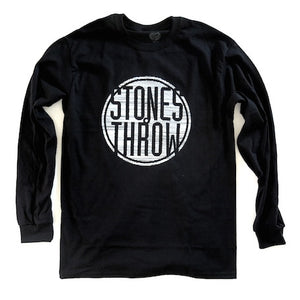 Stones Throw - Pencil Lines Men's L/S Shirt, Black - The Giant Peach