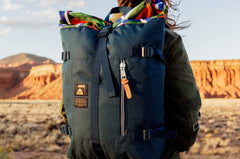 Poler x Pendleton - Classic Rolltop Backpack, Crater Lake - The Giant Peach