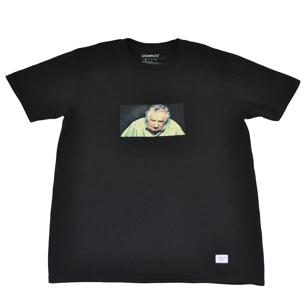 Akomplice - Pepe Mujica Men's Tee, Black - The Giant Peach