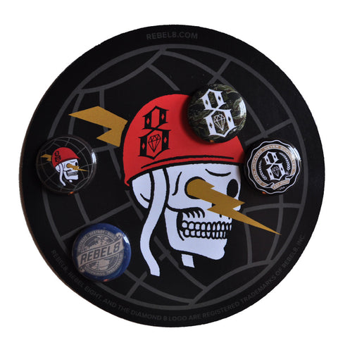 REBEL8 - Fall Button 4 Pack