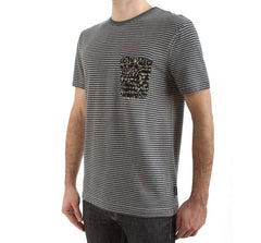 Imaginary Foundation - Chalkboard Men's Pocket Tee, Stripe - The Giant Peach - 3